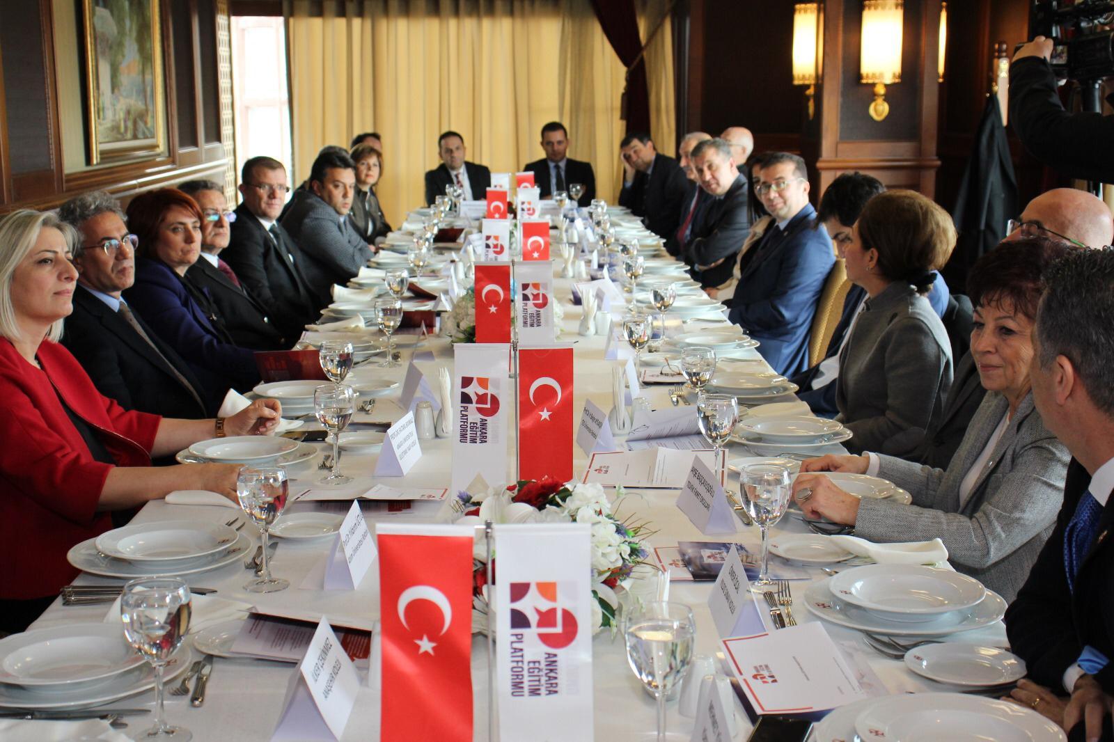 Ankara Eğitim Platformu, Üniversite Rektörleri ile Bir Araya Geldi